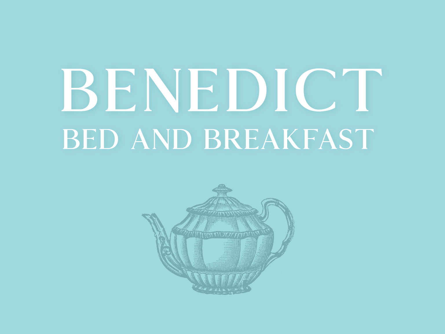 Bed And Breakfast Concept countryside old english pointalism oldstyle teal branding illustrative logo concept airbnb bb bed and breakfast united kingdom uk england teapot teacup tea farm farmhouse illustrative