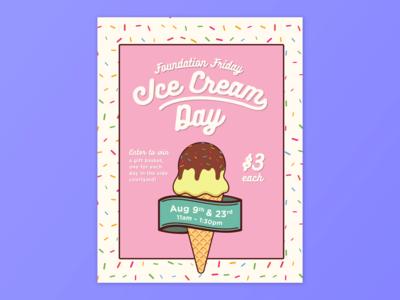 Ice Cream Fundraiser Poster
