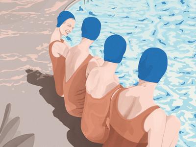 Summer time rolls art digital digitalillustration texture photoshop editorial graphicdesign illustration