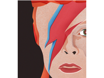 Bowie watercolor editorial david bowie bowie illustration