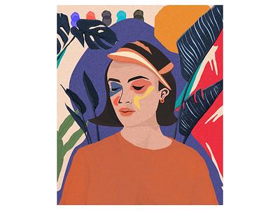 Sour Cherry 🍒 portrait fashion poster editorial design illustration