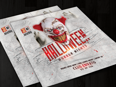 Halloween creepy clean joker horror nights halloween 2020 halloween party halloween flyer