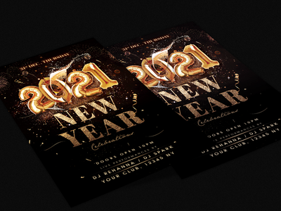 New  Year Party Flyer new year celebration new year flyer happy new year new years eve nye 2021 new year party new year party flyer new year