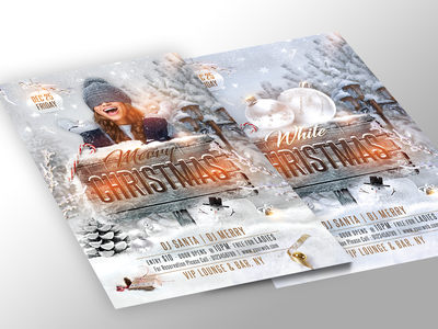 White Christmas Flyer template merry christmas new year merry xmas winter party christms party flyer christmas party christmas merrychristmas christmas flyer white christmas