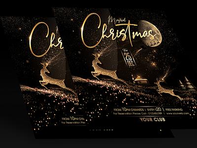 Christmas Flyer xmas flyer christmas poster christmas party flyer magical christmas christmas party christmas cards golden christmas christmas design christmas card christmas flyer christmas