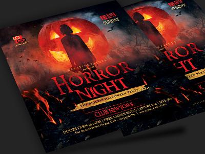 Halloween Flyer horror night halloween party scary creepy halloween halloween flyer halloween