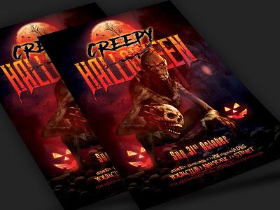 Halloween Flyer templates bloody halloweenparty horrornight creepy scary halloweenflyer halloween