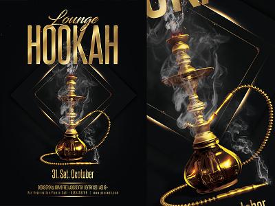 Hookah  Party Flyer vip tabacco shisha hookahs hookah party flyer hookah night hookah lounge flyer hookah flyer hookah event hookah bar hookah golgen elegant coals club cigars bar arabian hookah