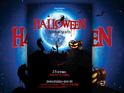 Halloween Flyer halloween bash halloween poster halloween carnival night creepy scary horror nights halloween party halloween flyer halloween
