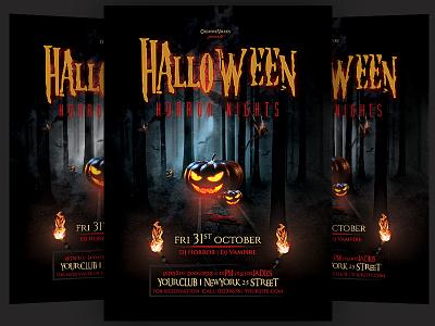 Halloween Flyer halloween design halloween party flyer creepy scary happy halloween horror nights halloween bash halloween party halloween flyer halloween