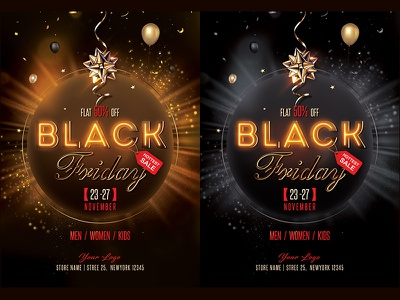 Black Friday Flyer Designs Themes Templates And Downloadable Graphic Elements On Dribbble
