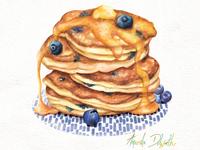 Food Illustration Pancakes