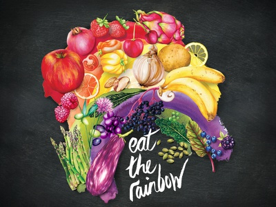 Eat The Rainbow rainbow vegetables fruit nutrition healthy eating healthy living lifestyle illustration food illustration