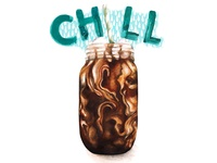 Food And Drink Illustration Cold Brew Coffee - Chill