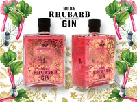 Pink Gin Packaging And Branding Illustrations