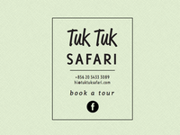 Tuk Tuk Safari temporary web page