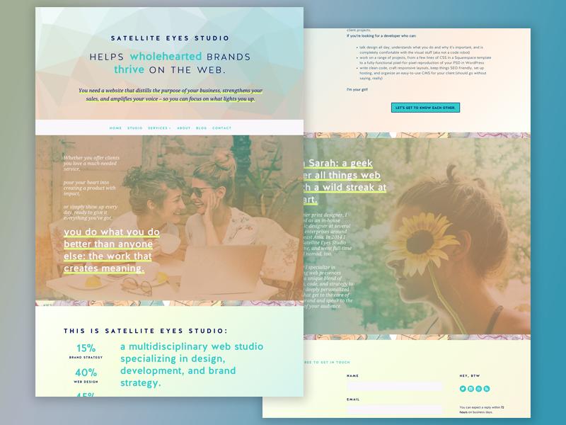 Satellite Eyes Redesign!! web studio custom sites web development web design