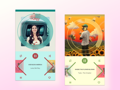Daily UI 009 – Music Player app user interface web design music player dailyui daily ui 009