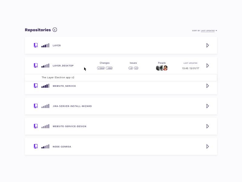 Dev Tools App – hover state developer tools product design desktop app prototype interface