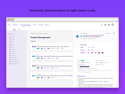 Codebase Documentation App prototype product design interface developer tools desktop app