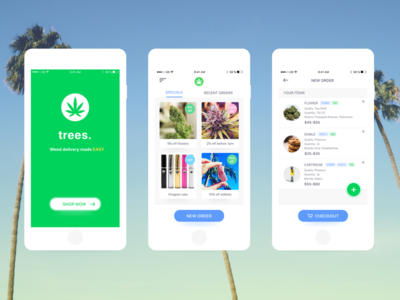trees. - marijuana shopping and delivery app