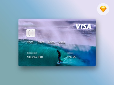 Your own customized credit card -  .sketch freebie