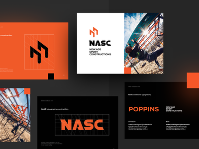 NASC Branding typography logodesign design brand brandbook logo obstacles branding ocr nasc