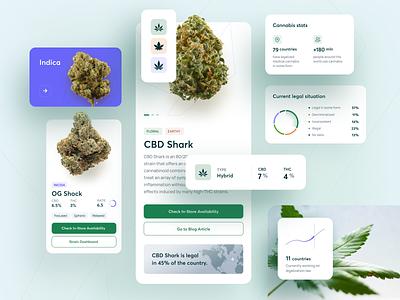 CBDIOL - Cannabis Blog leaf blog website thc weed cannabis cbd ios mobile design ux app ui