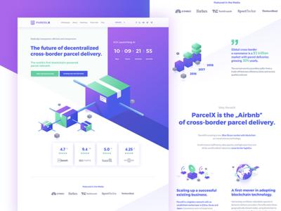 ParcelX - Landing Page