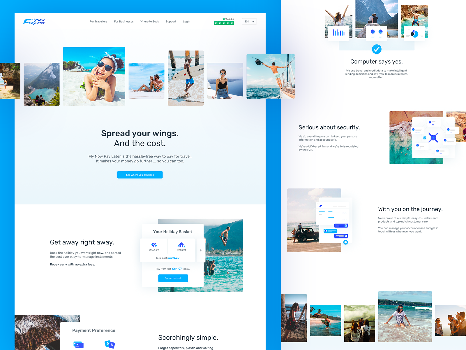 Fly Now Pay Later - Main Page web ui webdesign payment hotels flight trip lifestyle holidays travel