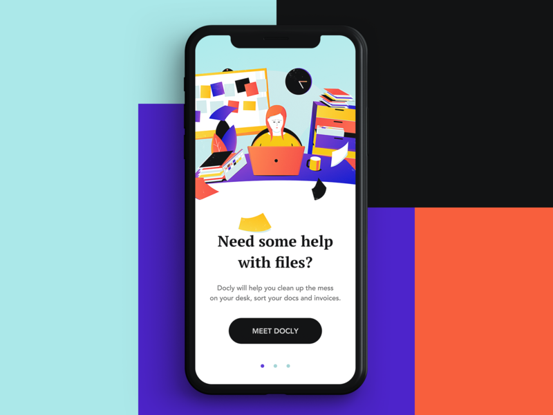 Docly Intro app docs mess files ui designer affinity illustration