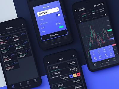 Crypto Ticker App design altcoin ux cryptocurrency crypto blockchain bitcoin app ui