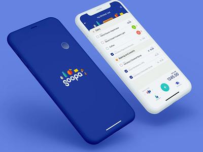 Soopa App Design ux maise fresh store market mobile app ui