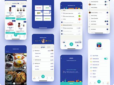 Soopa App food market shopping grocery fresh story mobile app ux ui