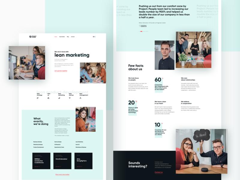 Project:People Website projectpeople marketing development strategy business agency webdesign website ui ux lean ux lean