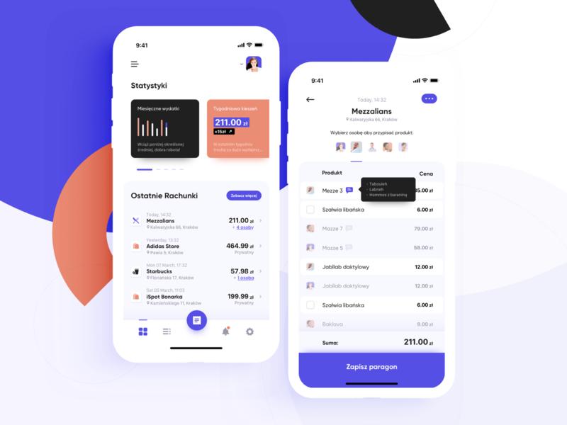 The Bill App concept maise sketch design shopping meetings friends finance bills app ux ui