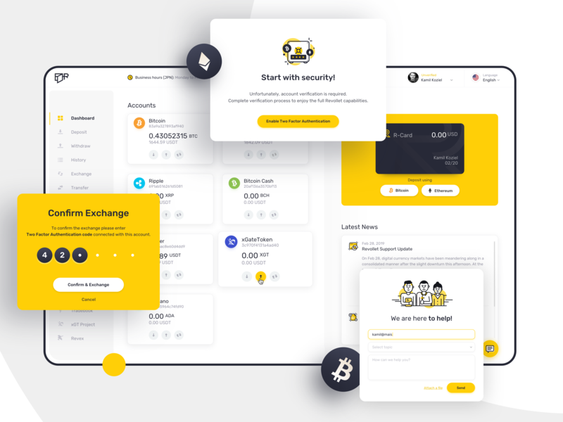 E-wallet Platform invest card wallet funds payment ico altcoin design cryptocurrency crypto blockchain bitcoin ux ui
