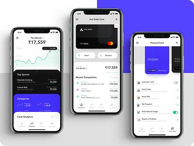 Mobile Wallet spendings transactions banking cash money wallet mobile fintech finance design app ux ui