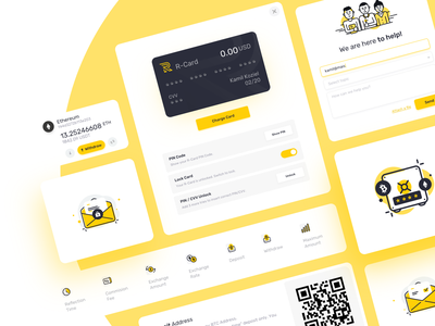 E-wallet Platform payment maise altcoin cryptocurrency bitcoin blockchain illustration ux app ui