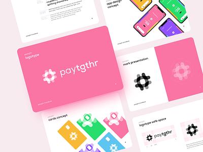 paytgthr brand design fintech finance payment card design app ui vector branding logo