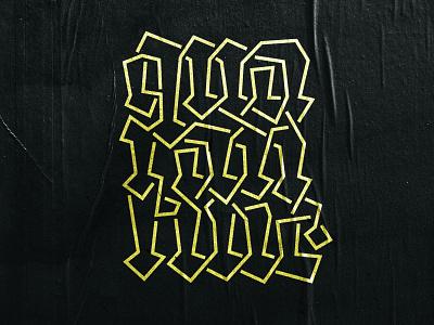 Quarantine gothic coronavirus quarantine font typography logotypes calligraphy lettering