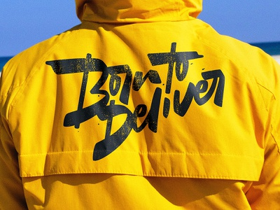 Born to Deliver font type logo typography logotypes born hero covid-19 coronavirus delivery calligraphy lettering
