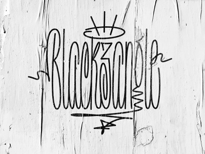 For my friend @Black3angle mural monoline black3angle typography logo type calligraphy lettering