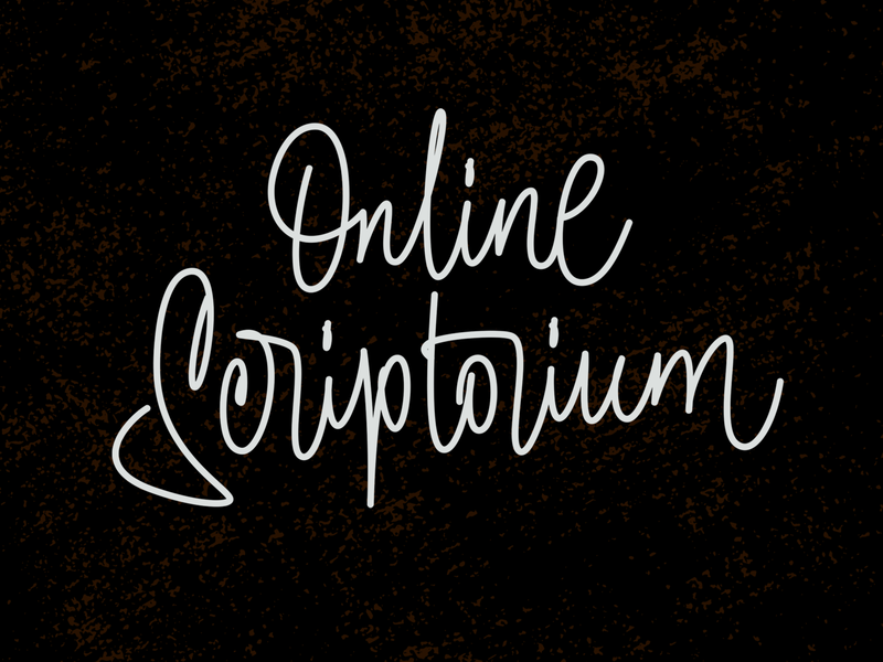 Online Scriptorium typography illustration calligraphy lettering