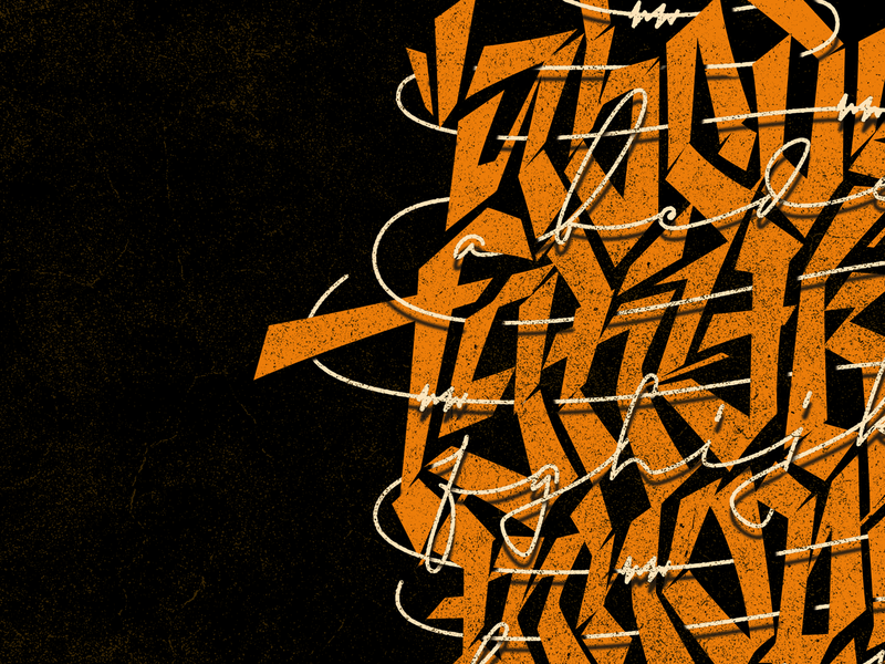 New Behance project collab calligraphy lettering