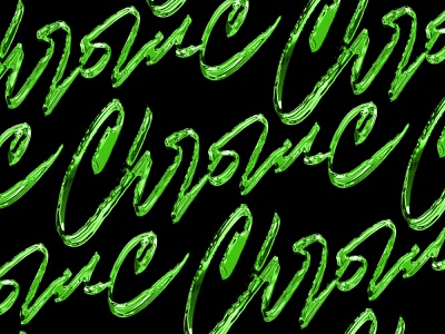 Chrome pattern calligraphy lettering