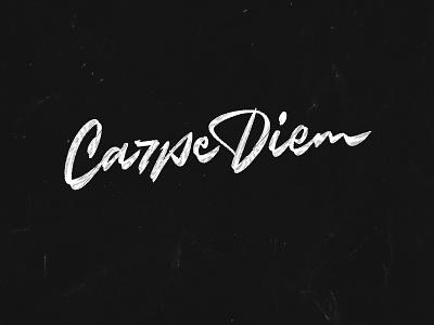 Carpe Diem typography calligraphy lettering