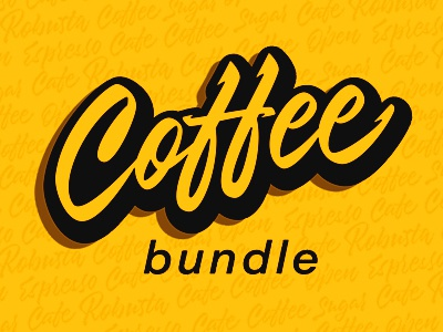 Cover for Lettering Set tea cafe bundle yellowimages coffee design logo logotypes calligraphy lettering