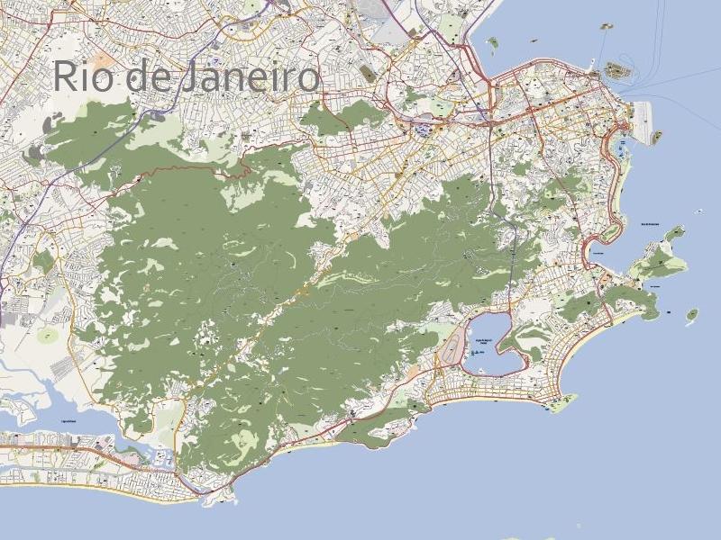 Rio de Janeiro Editable Vector Map by René Vaartjes | Dribbble ...