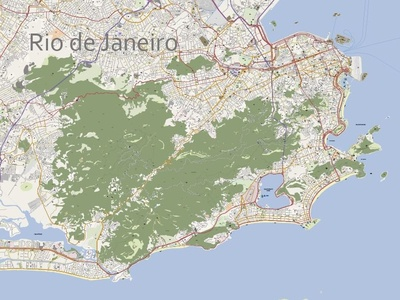 Rio De Janeiro Editable Vector Map By René Vaartjes Dribbble - Rio de janeiro map